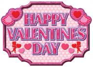 Bannière rose Happy Valentine's Day