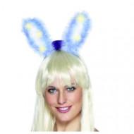 Oreilles de lapin bleues lumineuses
