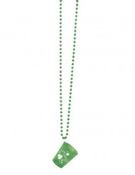 Collier avec verre shooter Saint Patrick