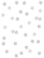 Confettis étoiles métallisés argent