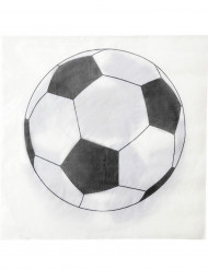 20 Serviettes en papier Ballon football 33 x 33 cm