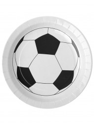 10 Assiettes en carton ballon football 23 cm