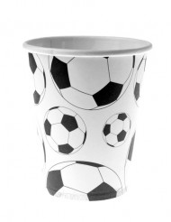 10 Gobelets en cartons ballon football 200 ml