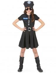 Déguisement policière robe noire fille
