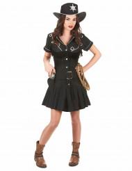 Déguisement cow girl femme robe noire