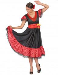 Déguisement danseuse de flamenco à pois femme