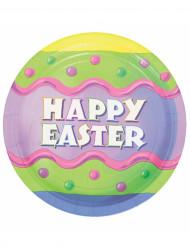 8 Assiettes Happy Easter Pâques 23 cm