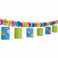 Guirlande lanternes papier Tongs Colorées