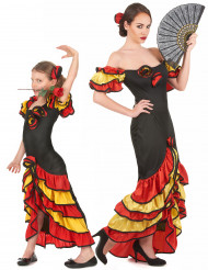 Déguisement de couple danseuse flamenco mère et fille