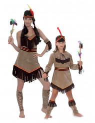 Déguisement couple indienne mère et fille