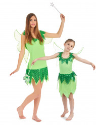 Déguisement de couple fée verte mère et fille