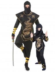 Déguisement couple ninja père et fils