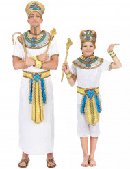 Déguisement de couple egyptien père et fils