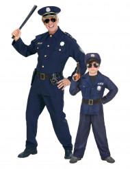 Déguisement couple policier père et fils