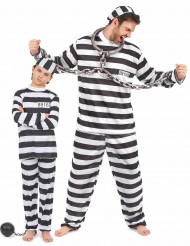 Déguisement de couple prisonnier père et fils