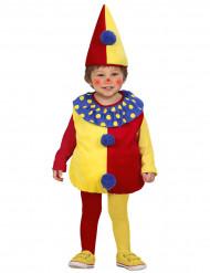 Déguisement clown bicolore bébé