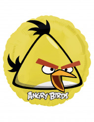 Ballon aluminium rond jaune Angry Birds™