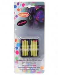 6 Crayons gras fluo UV