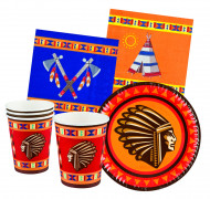 Kit de table 24 pièces Indiens