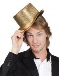Chapeau haut de forme doré adulte