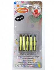 5 Crayons maquillage scintillants