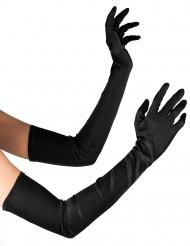 Gants longs noirs