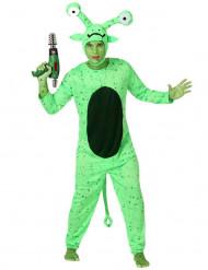 Déguisement alien vert homme