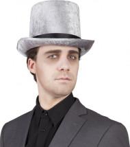 Chapeau haut de forme argenté homme