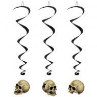 Décoration à suspendre têtes de mort