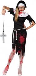 Déguisement religieuse zombie femme Halloween