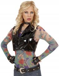 Haut à manches longues effet tatouages femme