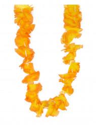 Collier Hawaï fleurs oranges