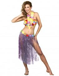 Jupe hawaïenne longue violette adulte
