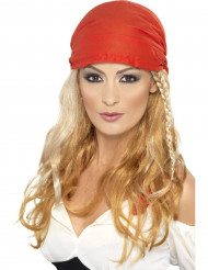 Perruque longue blonde pirate femme