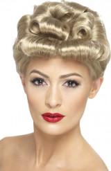 Perruque courte blonde vintage femme