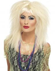 Perruque blonde crêpée femme