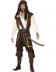 Déguisement pirate marron homme