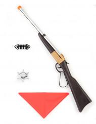Set fusil cowboy en plastique