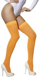 Bas orange fluo femme
