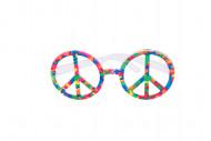 Lunettes multicolores hippies