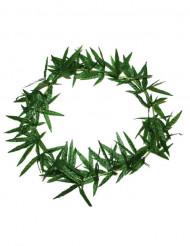 Collier Hawaï à feuilles vertes
