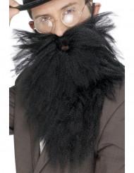 Barbe longue noire homme