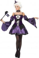 Déguisement baroque violet femme
