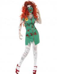 Déguisement zombie auxiliaire médical femme Halloween
