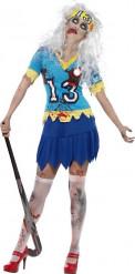 Déguisement zombie joueuse de hockey femme Halloween