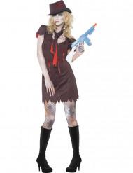 Déguisement zombie gangster sexy femme Halloween