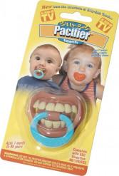 Tétine humoristique dents bébé