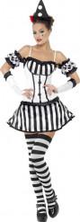 Déguisement clown mime sexy femme