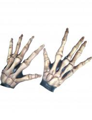 Gants courts os squelettique adulte Halloween