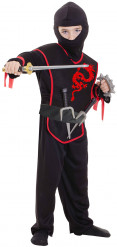 Déguisement Ninja liseré rouge garçon